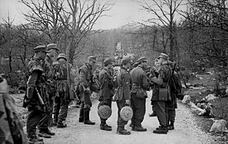 1st Mountain Division (Wehrmacht) - Soldiers of the Division during an anti-partisan operation in Yugoslavia, 1943-44