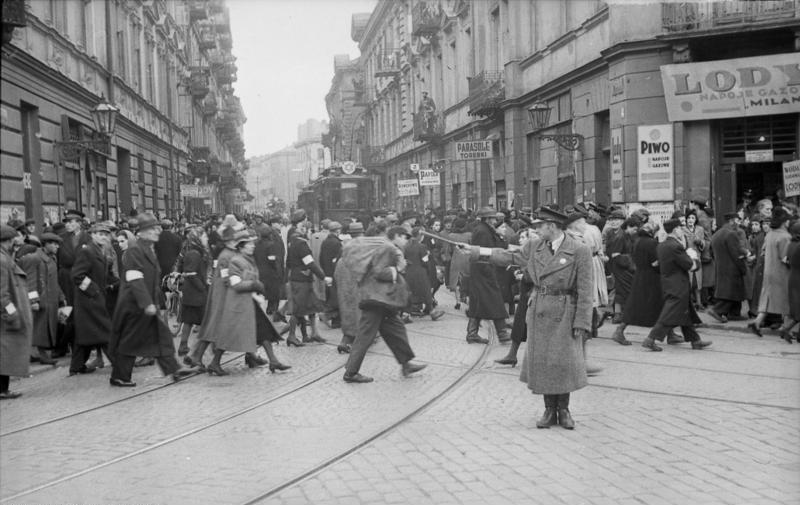 Bundesarchiv Bild 101I-134-0796-30, Polen, Ghetto Warschau, Ghettopolizist
