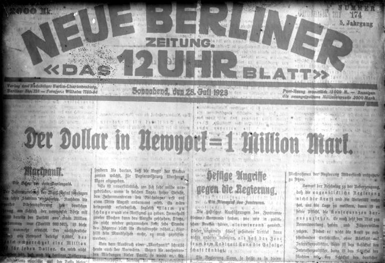 Bundesarchiv Bild 102-00134, Berliner Tageszeitung zur Geldentwertung
