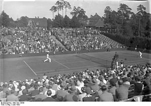 George Lyttleton-Rogers - George Lyttleton-Rogers (left) playing against Germany in the 1932 Davis Cup