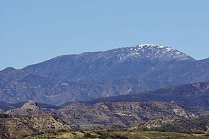 Sierra Pelona Mountains - Burnt Peak is the tallest mountain in the Sierra Pelona Mountains.