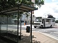 Bus turning into The Square, Barnstaple - geograph.org.uk - 938948.jpg