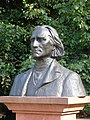 Bust of Franz Liszt in Łazienki Park (Detail).jpg