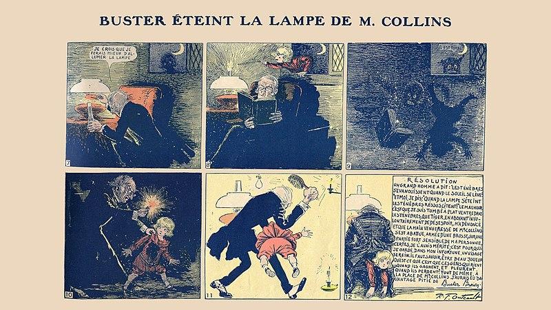 """Bande dessinée """"Buster Brown chez lui"""". Source : Richard Felton Outcault/Wikipédia (Domaine Public aux États Unis)"""