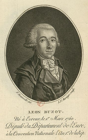 Francois Buzot, with whom Madame Roland had an intense platonic relationship in the last year of her life Buzot.jpg