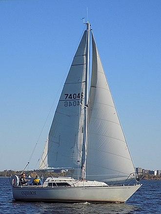 C&C 25 - Image: C&C 25 Mk II sailboat Equinox 1646 cropped