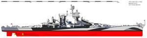 USS Guam (CB-2) - Guam as she appeared in 1944