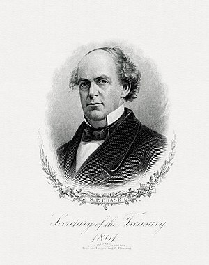 Salmon P. Chase - Bureau of Engraving and Printing portrait of Chase as Secretary of the Treasury