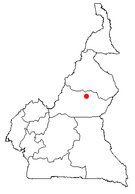 Location of Ngaoundéré in Cameroon