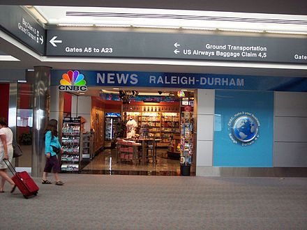 CNBC News Store at Raleigh-Durham International Airport CNBC News Store - Raleigh-Durham.jpg