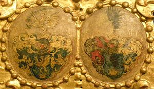 Pál Esterházy (1587–1645) - Coat of arms of Baron Pál and Éva Viczay (Slovak National Gallery, Bratislava)