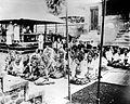 COLLECTIE TROPENMUSEUM Godsdienstige plechtigheid in de Pura Dalem Bali tijdens het bezoek van gouverneur-generaal Fock in 1925 TMnr 10001226.jpg