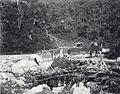 COLLECTIE TROPENMUSEUM Station Kampong Tangah tijdens de verwoesting Anaikloof, Pad. Bovenlanden TMnr 60038743.jpg