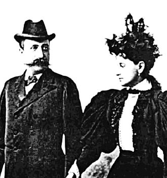 Constantin C. Arion - Arion and his wife, ca. 1890