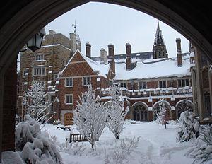 Hopper College - College courtyard, Winter 2011.