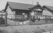 Simple Low Cost Bungalow Style Home Of Timber Featuring Imported Redwood Framing And Terracotta Tiled Roof Moonee Ponds Victoria Built Around 1928