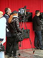 Cameramen filming interview with Paweł Sala during XXXV Polish Film Festival in Gdynia 2010 - 2.jpg