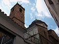 Campanar, rellotge de Sol i cúpula de la capella de la Comunió, església de l'Assumpció d'Onda.jpg