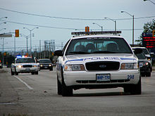 two peel regional police crown victoria police cars in mississauga canada