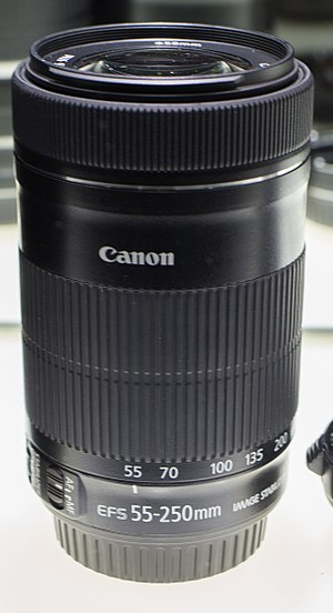 Canon EF-S 55–250mm lens - Image: Canon EFS 55 250 STM