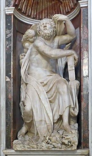 Elijah (Lorenzetto) - Image: Capella Chigi Bernini Elias