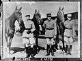 Capitaine Pierre Cavielle, Capitaine Pierre Clave et Lieutenant Jean de Tilière participant au tournoi équestre de Madison square.jpg