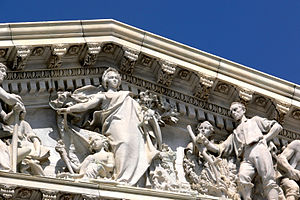 House of Representatives pediment detail, Unit...