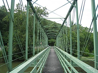 Capon Lake Whipple Truss Bridge - Capon Lake Whipple Truss Bridge, looking northwest from its southeast end, in 2009