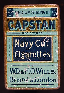 Capstan cigarettes tin, WD&HO Wills.JPG