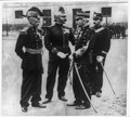 Capt. Alfred Dreyfus, full-length portrait, standing, facing left, with three other French military officers, all in uniform LCCN89714533.tif
