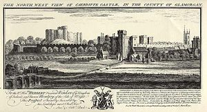 Cardiff - View of Caerdiffe Castle