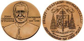 John O'Connor (cardinal) - Congressional Gold Medal awarded to O'Connor