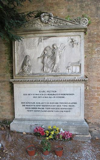 Carl Filtsch - Carl Filtsch's grave at Venetian cemetery San Michele