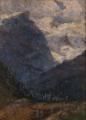 Carlo Bazzi, Paesaggio Champoluc pomeriggio- Valle d'Aosta (Il Rosa).png