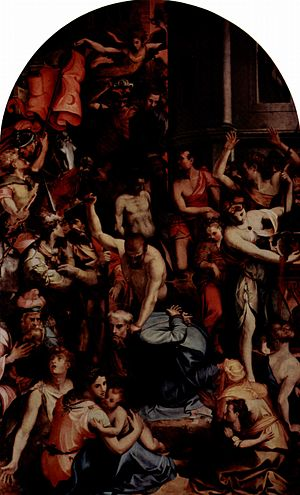 Carlo Portelli - Carlo Portelli, The martyrdom of St. Romulus, Oil on canvas, c. 1560-1570