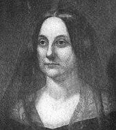 Retrato de Caroline Fillmore, olhando para a direita