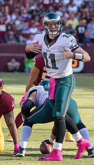 Carson Wentz - Wentz playing against the Washington Redskins in 2016