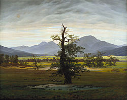 alt=German: Der einsame BaumSolitary Tree Alternative title: Village Landscape in Morning Light)