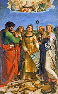 <i>The Ecstasy of St. Cecilia</i> (Raphael) painting by Raphael
