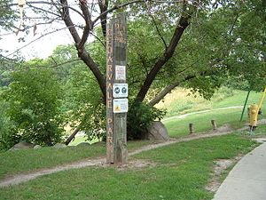 Old City of York sign for Cedarvale Park