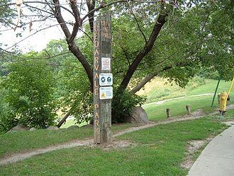 Castle Frank Brook - Image: Cedarvale park sign