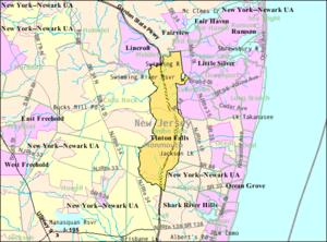 Tinton Falls, New Jersey - Image: Census Bureau map of Tinton Falls, New Jersey
