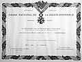 Certificate - ORDRE NATIONAL DE LA LEGION D'HONNEUR.jpg