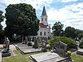 Chapel of Our Lady of Snow (1898) and graves in Gyenesdiás, 2016 Hungary.jpg