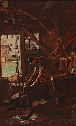Charlemont–A Blacksmith in his Workshop, 1882