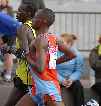 Charles Kamathi - Kamathi in the 2008 Rotterdam Marathon