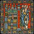 Chartres VITRAIL DE LA VIE DE JÉSUS-CHRIST Motiv 17 Le retour d'Égypte (populations allant au-devant de la Sainte Famille) .jpg