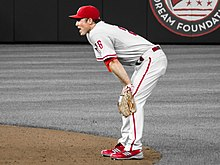 Photograph of Chase Utley, Phillies' second baseman from 2003 to 2015 running