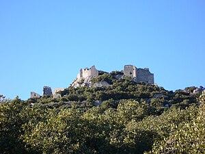 English: Castle of Montferrand - Pic Saint Lou...