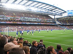 Chelsea fans at a match with Tottenham Hotspur, on 11 March 2006.
